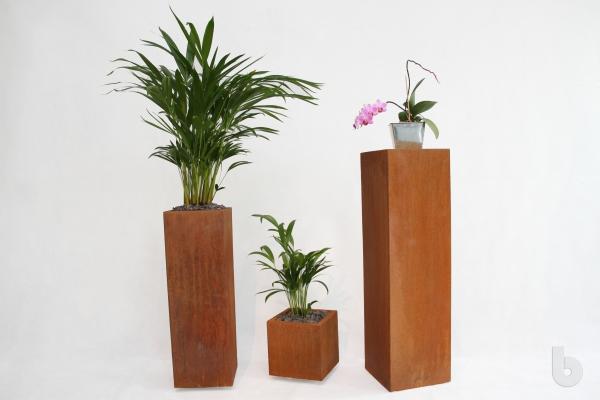 beliadesign - Der Blumenkübel aus Cortenstahl mit Rostung