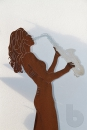 Saxogirl - Figur 170 cm aus Cortenstahl